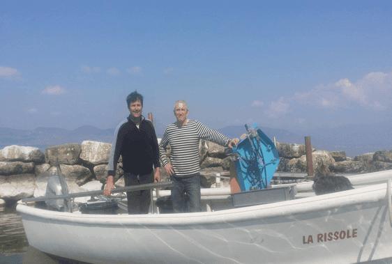 Eric Jacquier pêcheur et Michel Verdu chef