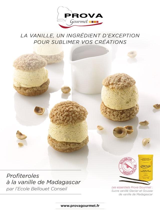 Profiteroles à la vanille de Madagascar par l'École Bellouet Conseil