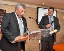 Didier Peschard, Président d'Euro-Toques,  intronisé « Maître es Foie Gras »