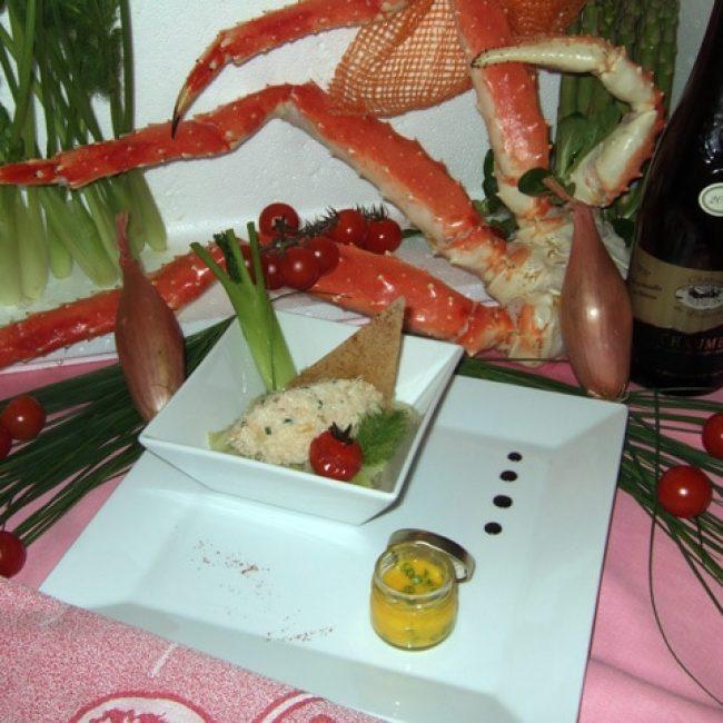 Gourmandise de King Crab aux parfums de layon et girofle