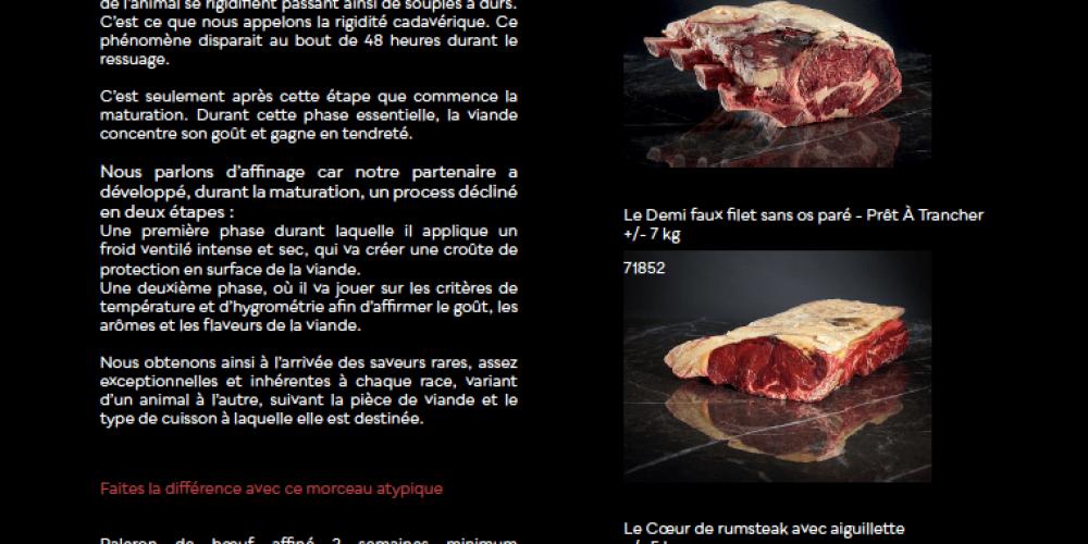 La Maison Chazal nous présente le bovin Charolais affiné