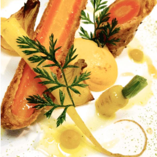 La carotte nouvelle en croûte feuilletée