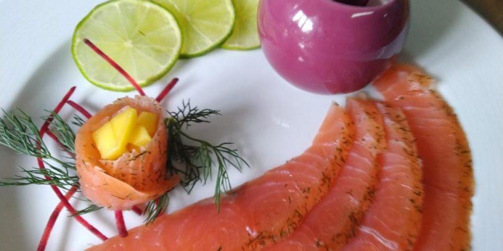 Gravlax de saumon à la mousse de fromage de Langres