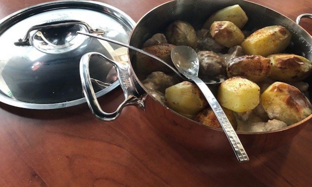 Ris de veau au Porto, pommes fondantes