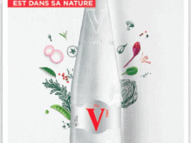 Vittel dévoile sa toute première bouteille en verre perdu