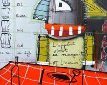 Exposition «Le chef et le peintre» au Clou de Fourchette