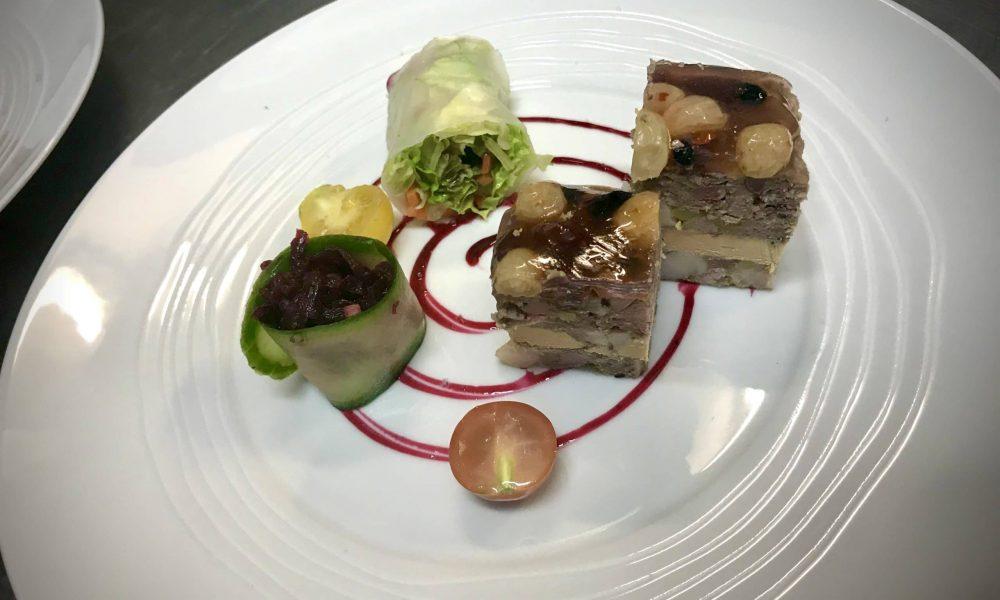 Éterle du Puys de la Tourte en strates de foie gras