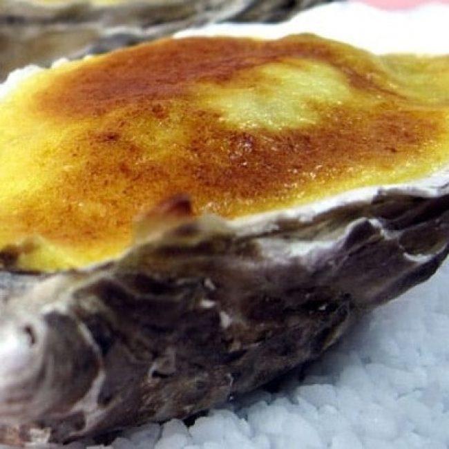 Huîtres au sabayon de Gewurztraminer
