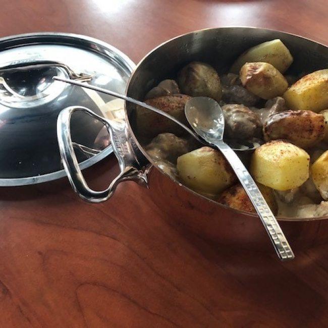 Ris de veau au Porto et petits légumes